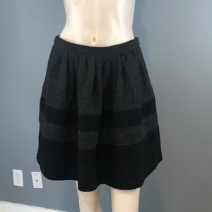 NWT Burberry Brit Gray/Black Wool Skirt Sz 6-8